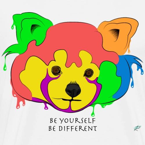 Be yourself, be different - Red Panda - Maglietta Premium da uomo