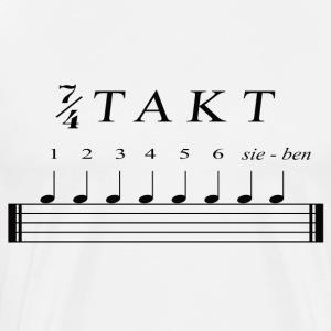 Schlagzeuger T-Shirt - Sieben Viertel Takt - Männer Premium T-Shirt