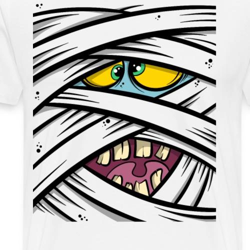 Mumie Monster Gesicht - Männer Premium T-Shirt
