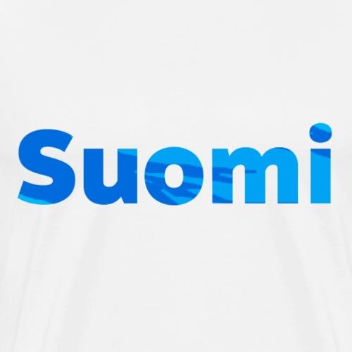 Suomi - Sininen - Miesten premium t-paita