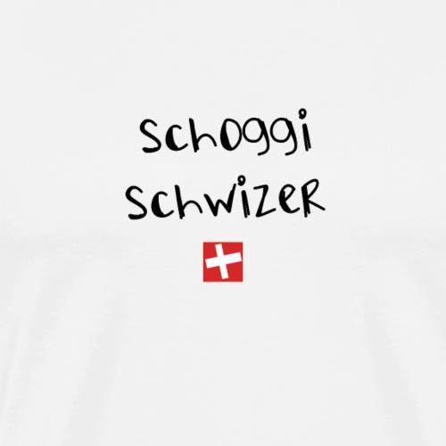 NEU! Schweizer Sprüche Geschenk | Schoggi Schwizer - Männer Premium T-Shirt
