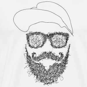 Hipster Scribble - Herre premium T-shirt