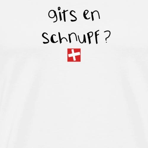 NEU! Schweizer Sprüche | Geschenk | Schnupf - Männer Premium T-Shirt