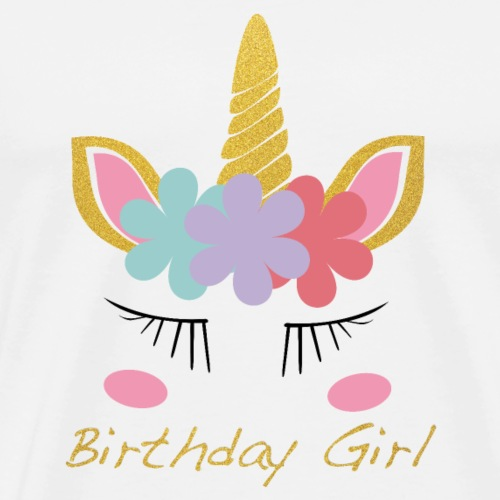 Einhorn Birthday Girl: Unicorn Birthday Girl - Männer Premium T-Shirt