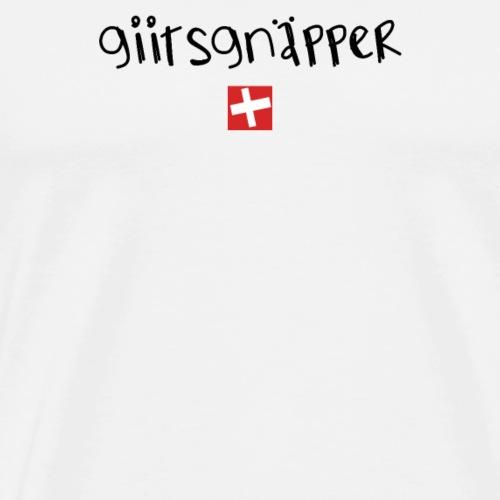 NEU! Schweizer Sprüche | Geschenk | Giitsgnäpper - Männer Premium T-Shirt