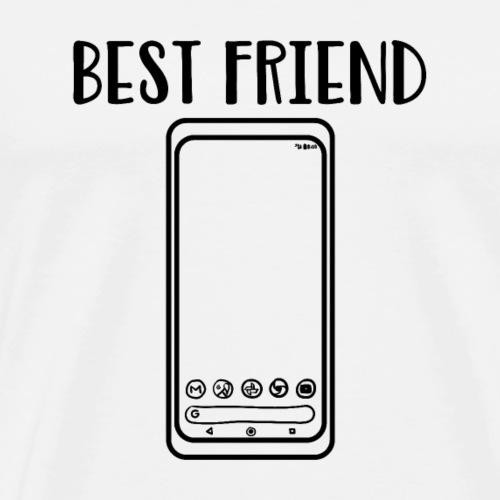 Lustiges Bester Freund Smartphone T-Shirts |NaKos - Männer Premium T-Shirt