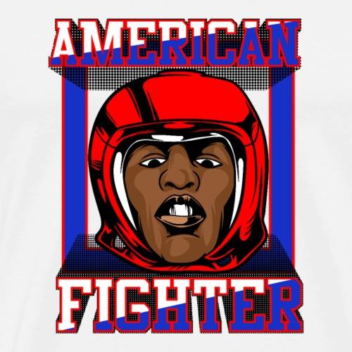 American Fighter Boxer Sport T-Shirt | NaKos - Männer Premium T-Shirt