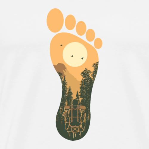 Wanderspuren - Männer Premium T-Shirt