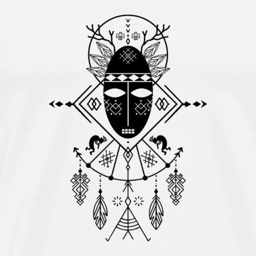 Schamane (heller Hintergrund) - Männer Premium T-Shirt