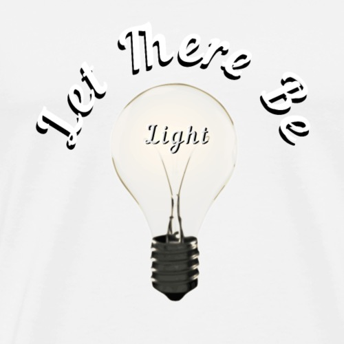 Let There Be Light Bulb - Mannen Premium T-shirt