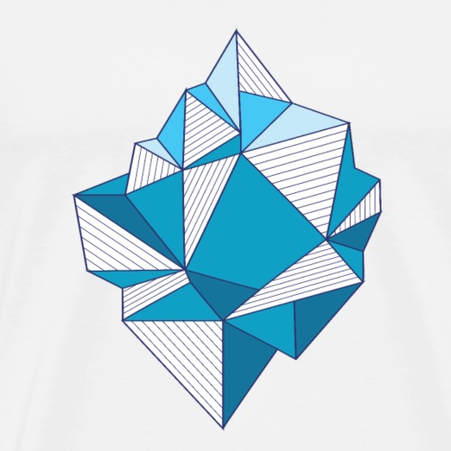 featuring an abstract iceberg - Premium-T-shirt herr