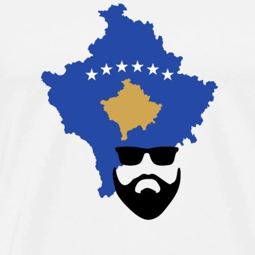Kosovo Flagge Bart - Männer Premium T-Shirt