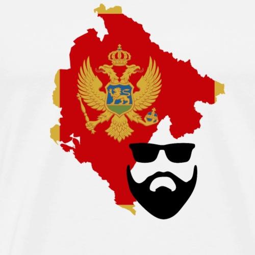 Montenegro Flagge Bart - Männer Premium T-Shirt