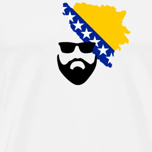 Bart Motiv  Bosnien  - Männer Premium T-Shirt
