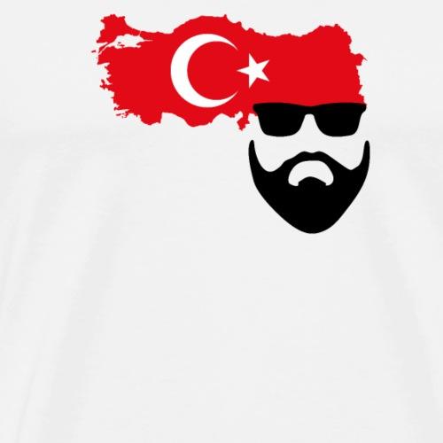 Bart Motiv  Türkei 2  seitlich - Männer Premium T-Shirt