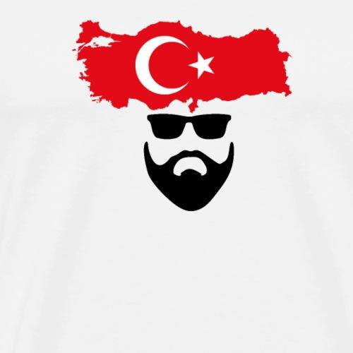 Bart Motiv  Türkei  - Männer Premium T-Shirt