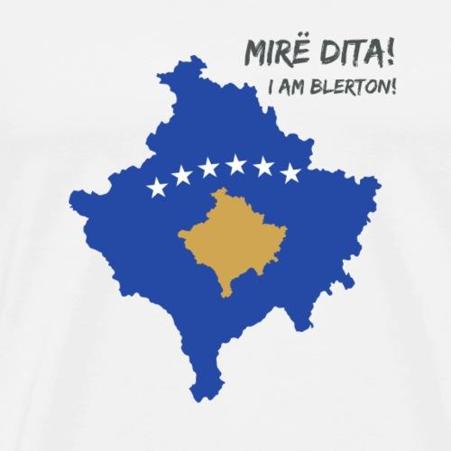 Kosovo Flagge  Blerton  - Männer Premium T-Shirt