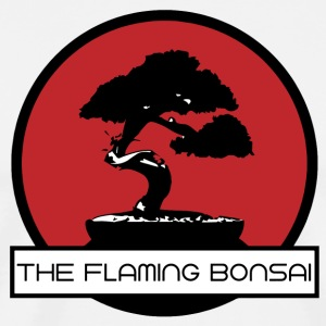 The Flaming Bonsai finalen Company Logo - Premium T-skjorte for menn