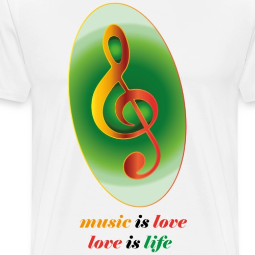 music is life and love - Männer Premium T-Shirt
