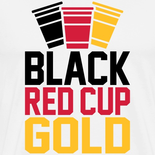 Black Red Cup Gold - Männer Premium T-Shirt