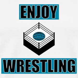 ENJOY_WRESTLING_BASIC_DesASD - Herre premium T-shirt