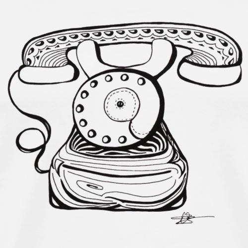 telephone old school - T-shirt Premium Homme
