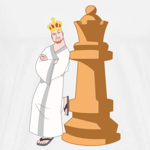 Samurai with Queen - Men's Premium T-Shirt