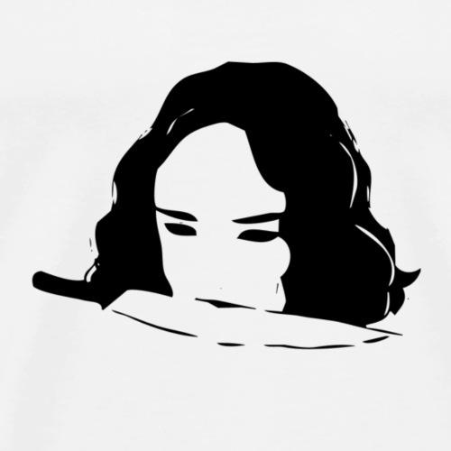 Dame mit Messer - Männer Premium T-Shirt
