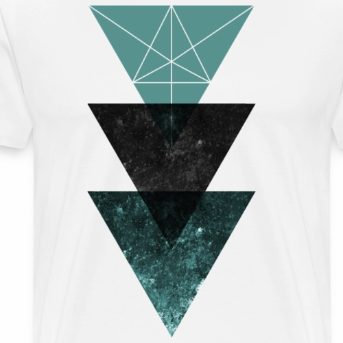 Triangle Design - Männer Premium T-Shirt