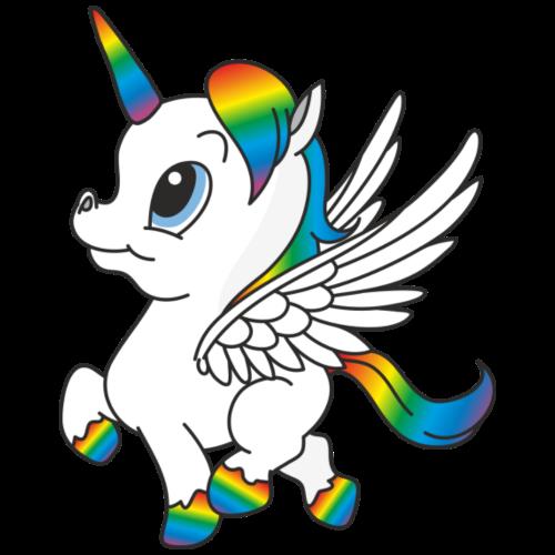 Regenbogen Einhorn, Pegasus - Männer Premium T-Shirt