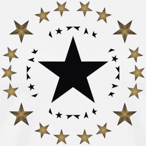 Stars in black and gold - Men's Premium T-Shirt