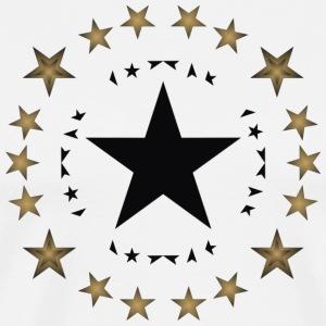 Stars in black and gold - Men's Premium T-Shirt