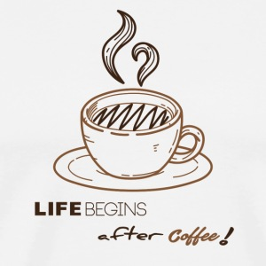 Life begins after-coffee - Men's Premium T-Shirt
