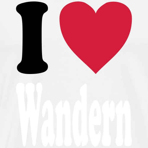 I love Wandern (Farben auswählbar!) - Männer Premium T-Shirt