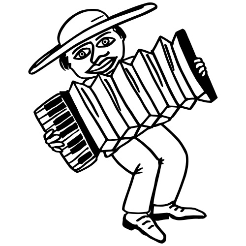 El Chico Pedro plays accordion - Männer Premium T-Shirt