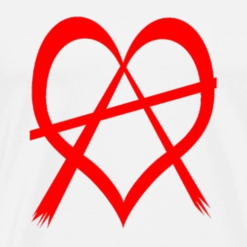 love anarchy red - Männer Premium T-Shirt