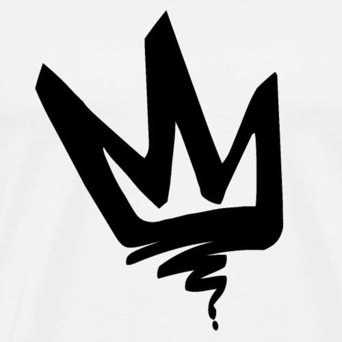 Krone Tag Schwarz - Männer Premium T-Shirt