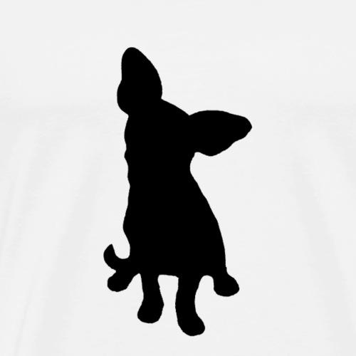 Chihuahua istuva musta - Miesten premium t-paita