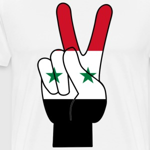SYRIA / SYRIA PEACE SIGN T-SHIRT - Men's Premium T-Shirt