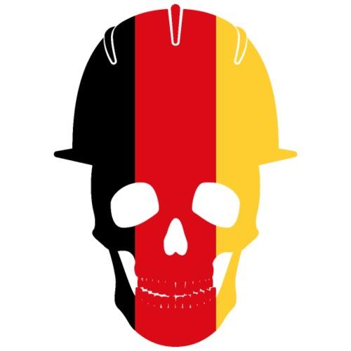Deutschland Schädel mit Bauhelm - Männer Premium T-Shirt