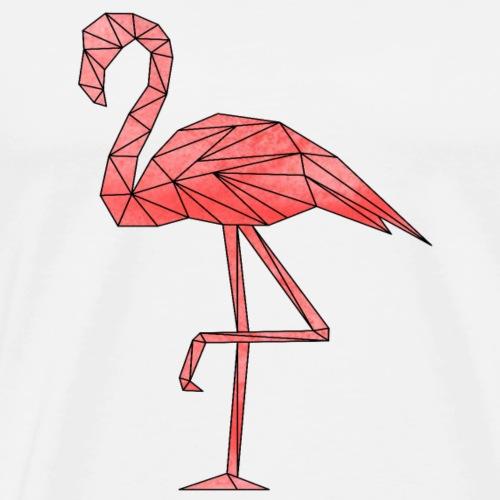 Flamingo Geometrisch - Männer Premium T-Shirt