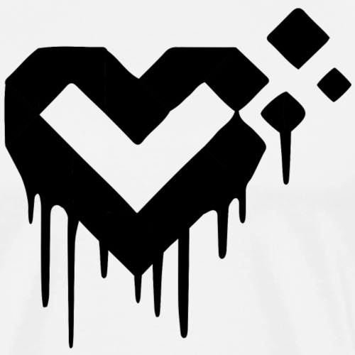 LiveForLife - Black Heart | Logo (schwarz) - Männer Premium T-Shirt