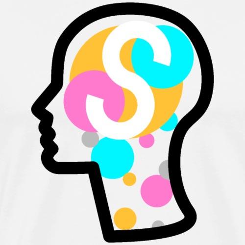 Squarenger Brain - Männer Premium T-Shirt
