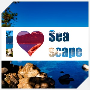 I love Seascape - Men's Premium T-Shirt