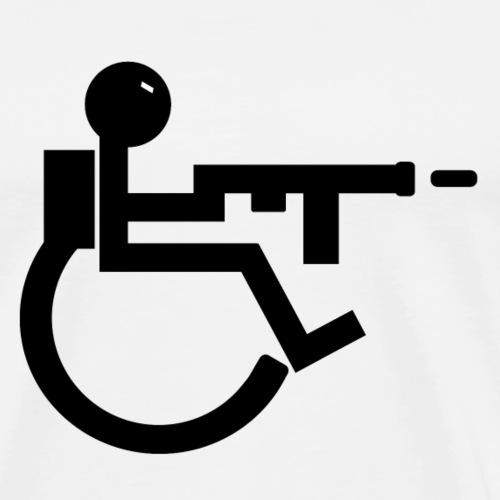 Handicap Zone Solo Logo - Männer Premium T-Shirt