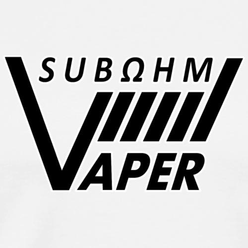 Subohm Vaper Schriftzug (universal) - Männer Premium T-Shirt