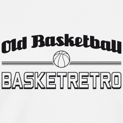 Old basketball monochrome noir - T-shirt Premium Homme