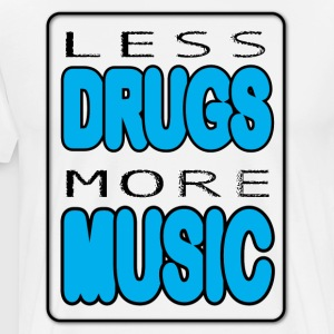 Less Drugs More Music - Maglietta Premium da uomo