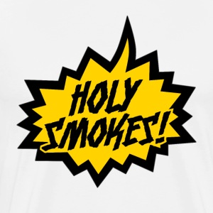"""Holy Smokes!"" - Premium T-skjorte for menn"