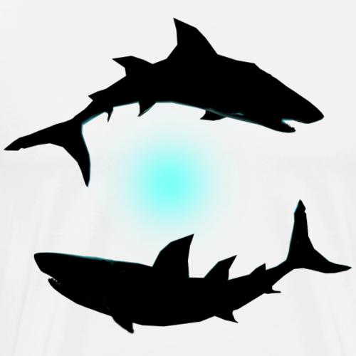 Sharks Circle - Männer Premium T-Shirt